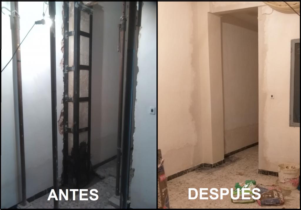 Proyecto para arreglo de patología en un pilar en Calle Cruz de Piedra, Yecla.