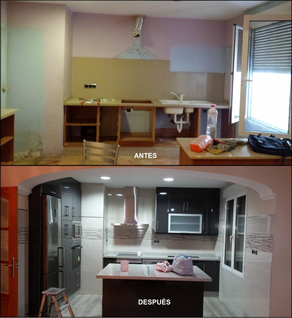 Proyecto de interiorismo y reforma en cocina de un piso del centro de Yecla.